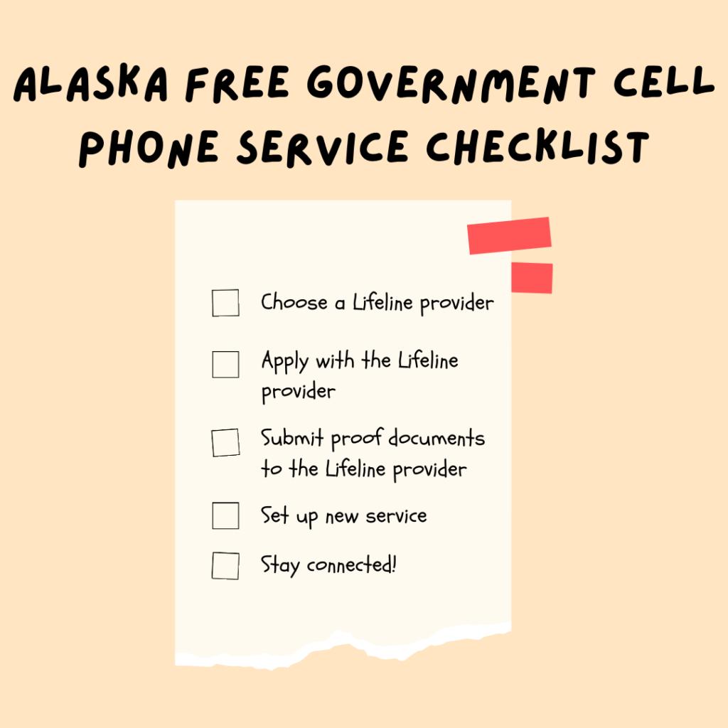 alaska free government cell phone service checklist
