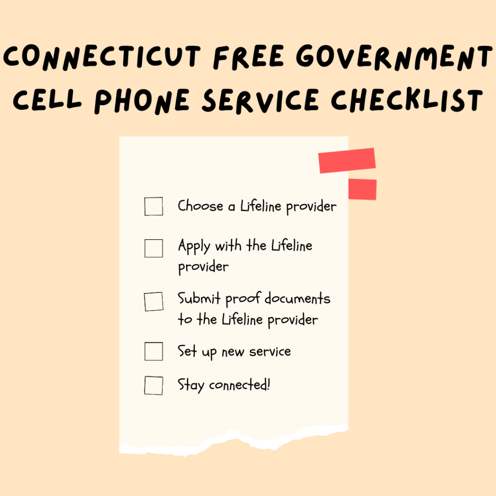 connecticut free government cell phone service checklist