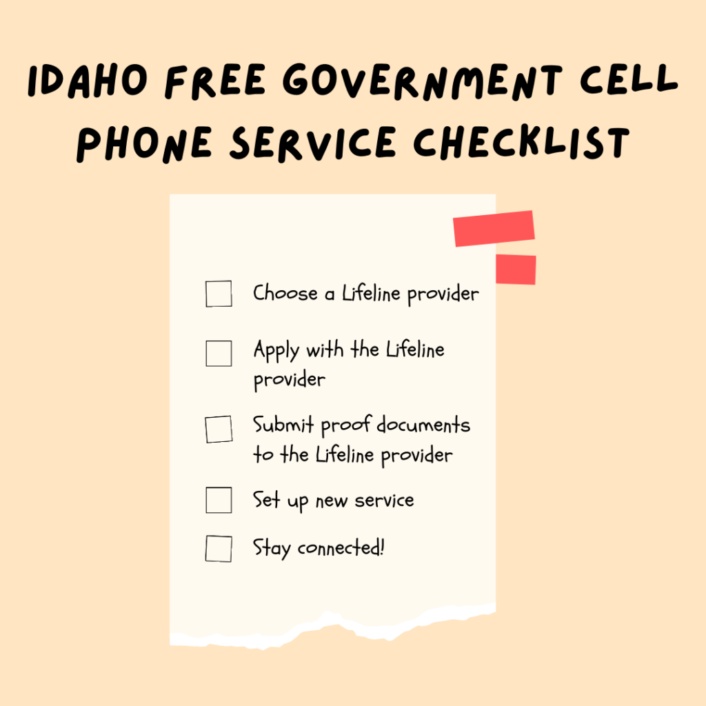 idaho free government cell phone service checklist