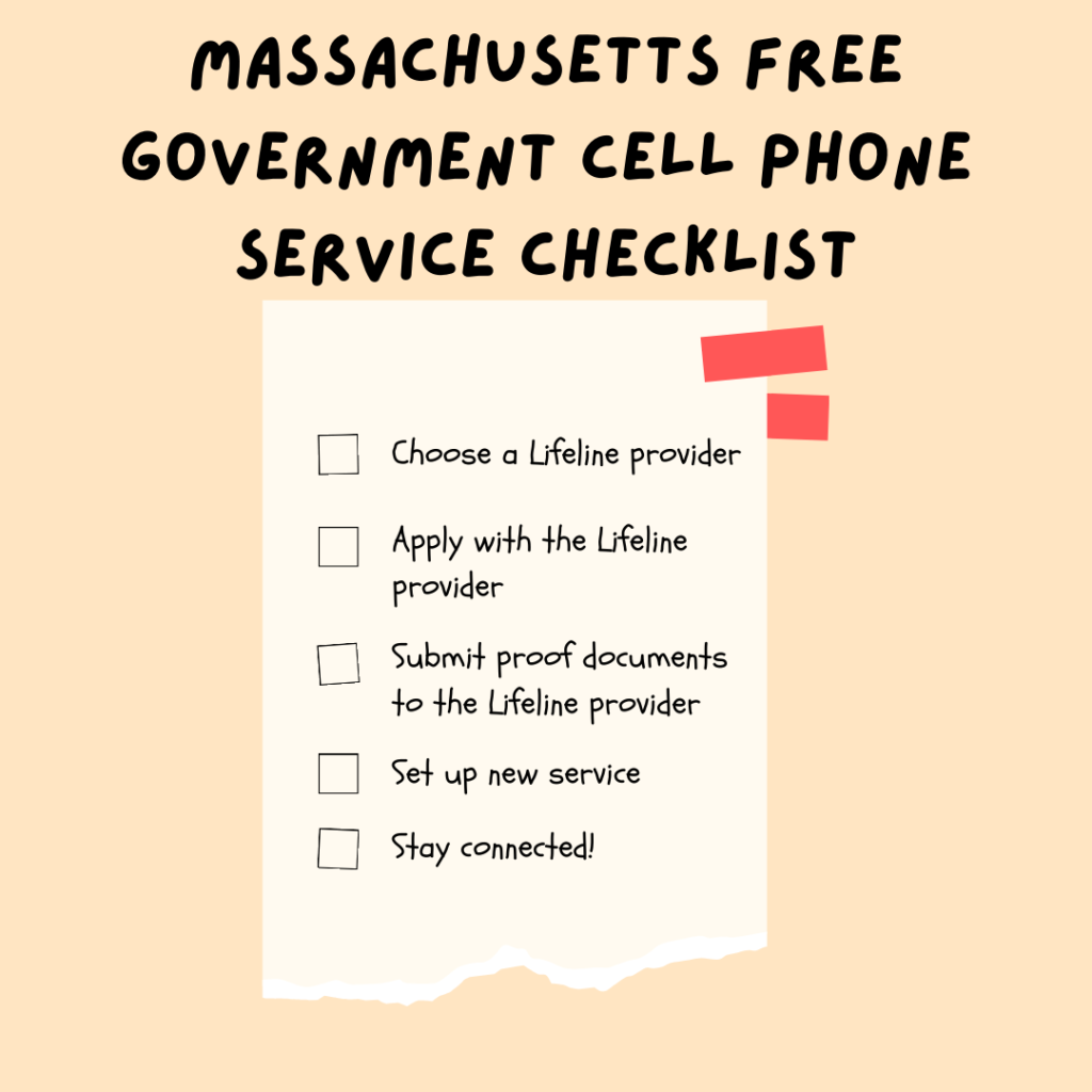 massachusetts free government cell phone service checklist