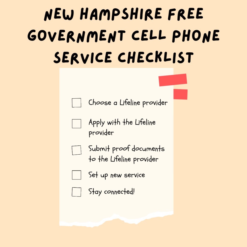 new hampshire free government cell phone service checklist