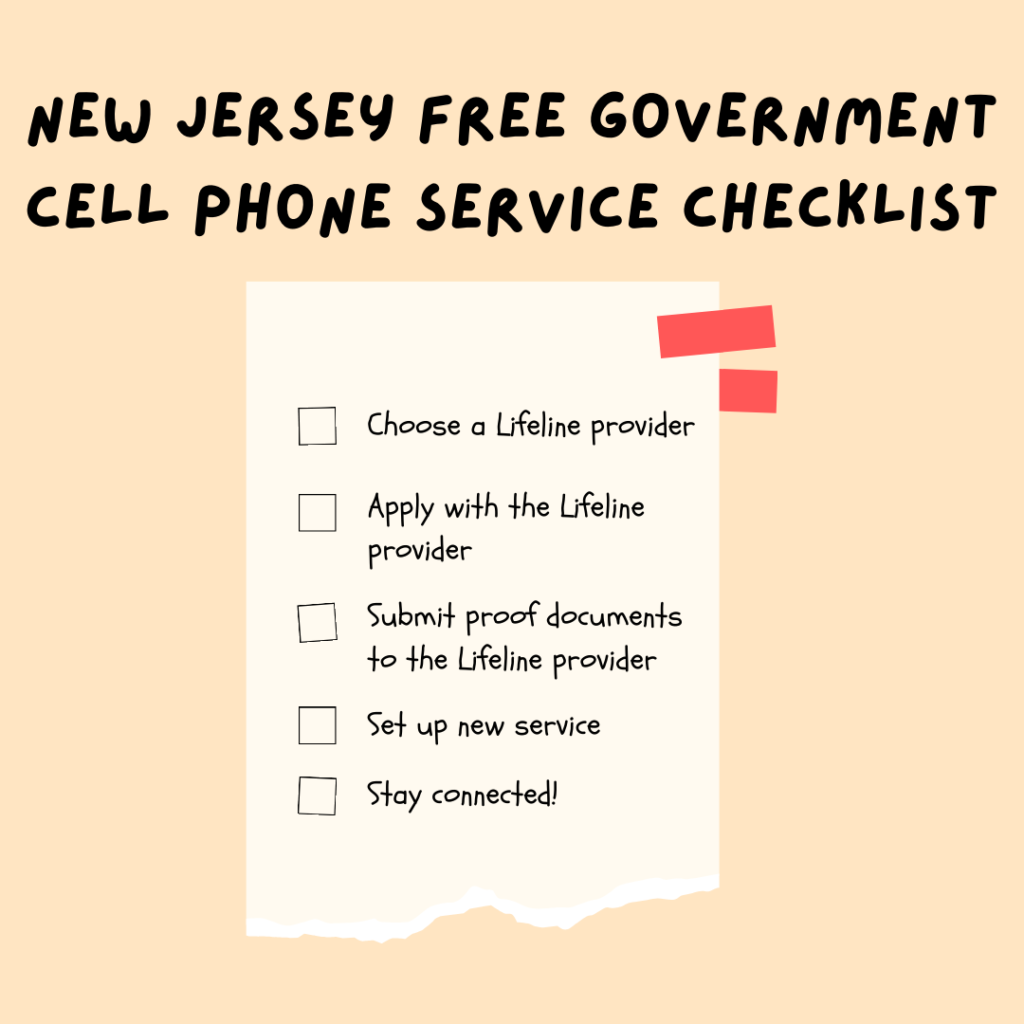 new jersey free government cell phone service checklist