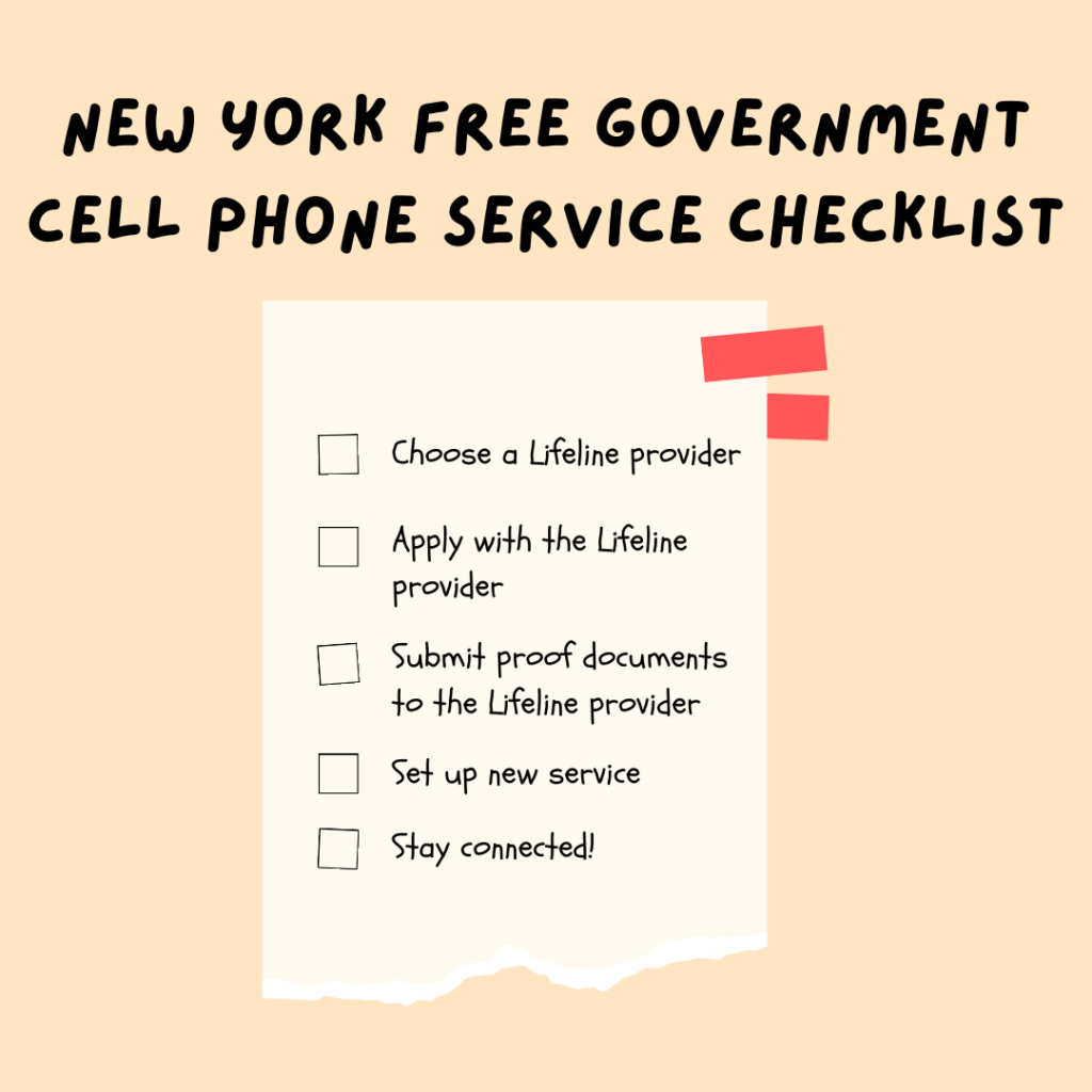 new york free government cell phone service checklist