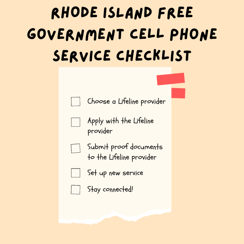rhode island free government cell phone service checklist