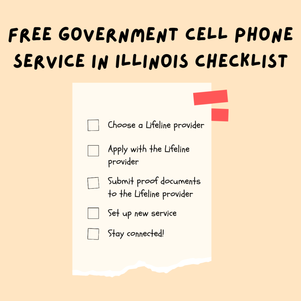 free government cell phone service in illinois checklist