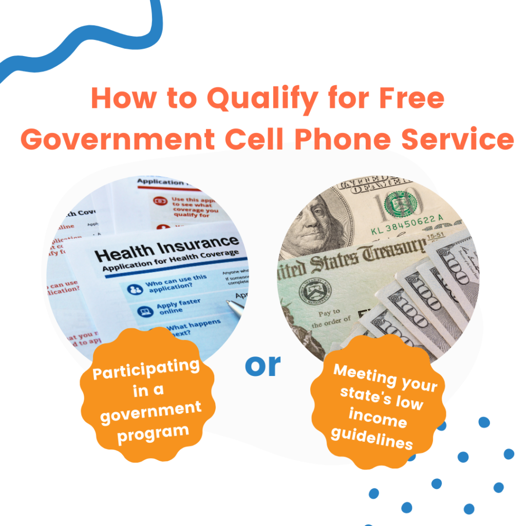 how to qualify for free government cell phone service infographic
